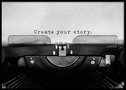Create Your Story Poster in the group Prints / Typography & quotes at Desenio AB (11952)