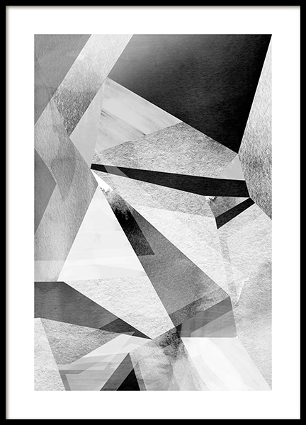 Gray Prisms Poster in the group Prints / Graphical at Desenio AB (11991)