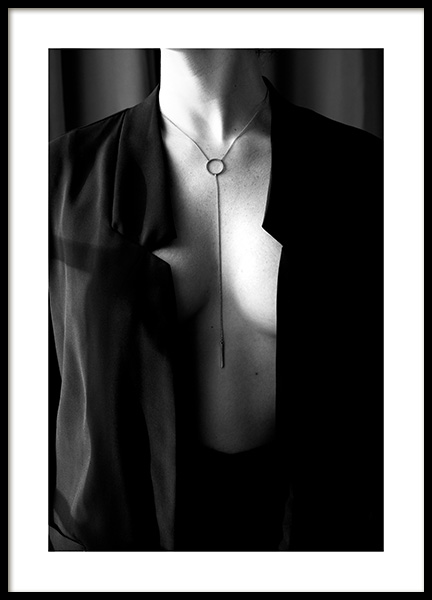 Woman With Necklace Poster in the group Prints / Black & white at Desenio AB (12017)
