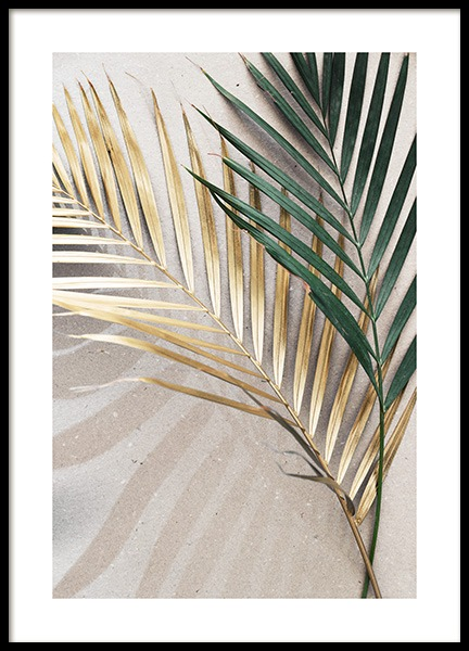 Golden leaves Poster in the group Prints / Floral at Desenio AB (12058)
