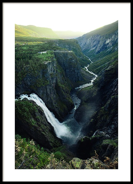 Vøringfossen Waterfall Poster in the group Prints / Nature at Desenio AB (12079)