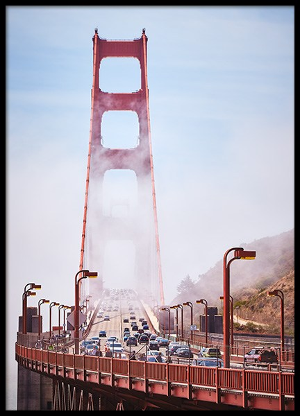 Golden Gate Poster in the group Prints / Nature at Desenio AB (12204)