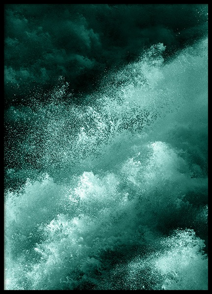 Green Splash Poster in the group Prints / Art prints / Abstract art at Desenio AB (12269)