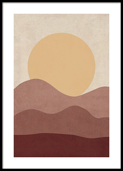 Sunrise Illustration Poster in the group Prints / Illustrations at Desenio AB (12400)