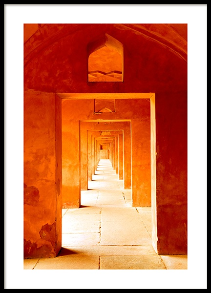 Orange Arches Poster in the group Prints / Photographs at Desenio AB (12404)