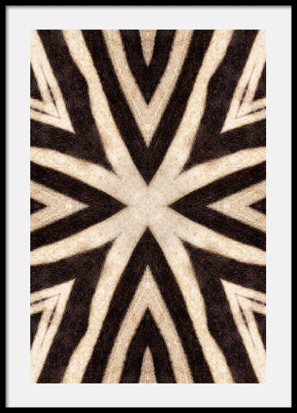 Abstract Zebra Stripes Poster in the group Prints / Animals at Desenio AB (12576)