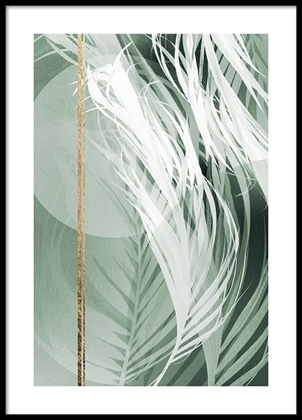 Graphic Palm Leaf No2 Poster in the group Prints / Photographs at Desenio AB (12588)