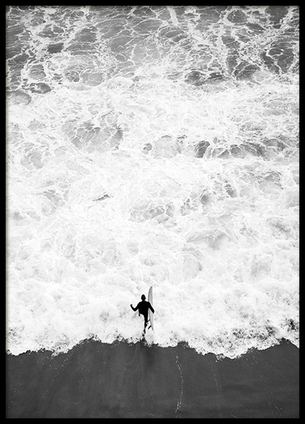 Running Into Ocean Poster in the group Prints / Black & white at Desenio AB (12598)