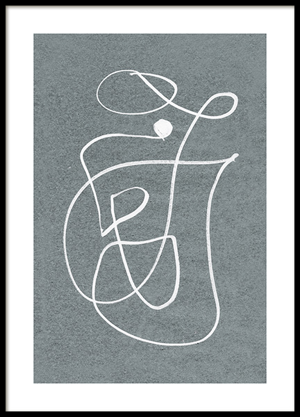 Fine Curvy Lines Poster in the group Prints / Art prints / Abstract art at Desenio AB (12612)