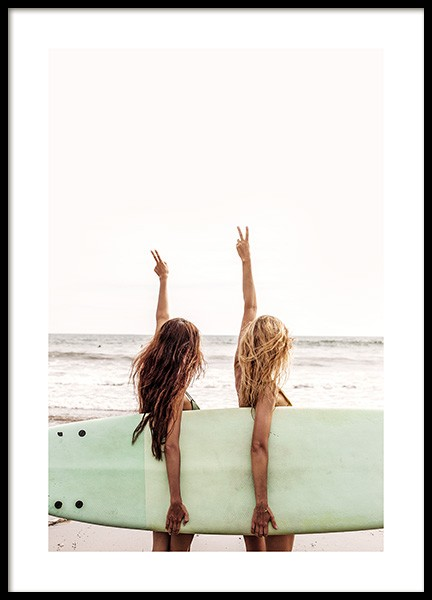 Surfer Girls Poster in the group Prints / Nature at Desenio AB (12637)