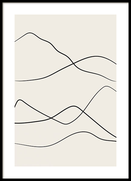 Desert Lines No2 Poster in the group Prints / Art prints at Desenio AB (12803)