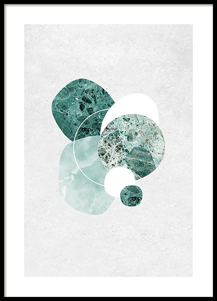 Mint Marble Poster in the group Prints / Art prints at Desenio AB (12846)