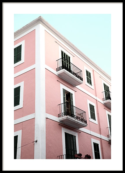Pink Building Poster in the group Prints / Photographs at Desenio AB (12853)