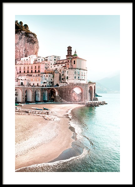 Amalfi Cityscape Poster in the group Prints / Nature / Beaches at Desenio AB (12931)