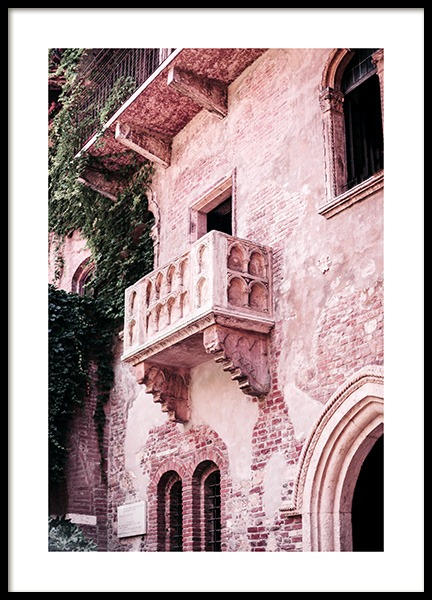 Juliet's Balcony Poster in the group Prints / Photographs at Desenio AB (13002)