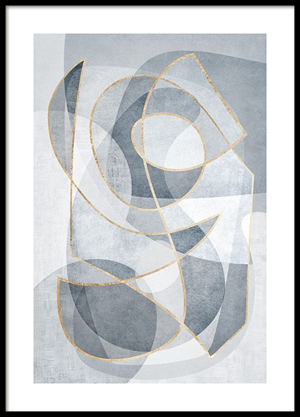 Abstract Blues No2 Poster in the group Prints / Art prints at Desenio AB (13121)