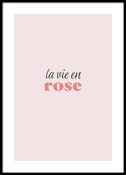 La Vie en Rose Poster in the group Prints / Text posters at Desenio AB (13186)