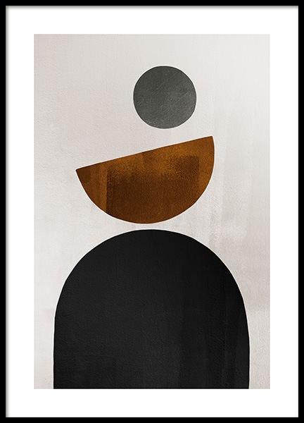 Weimar Shapes No1 Poster in the group Prints / Art prints at Desenio AB (13286)