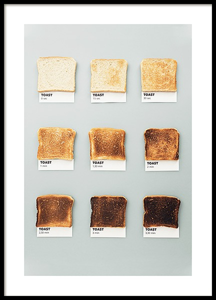 Toasts Poster in the group Prints / Kitchen at Desenio AB (13532)