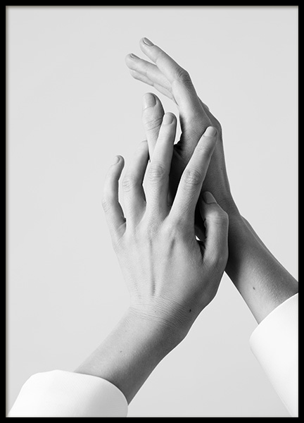Sensual Hands Poster in the group Prints / Photographs / Black & white photography at Desenio AB (14618)