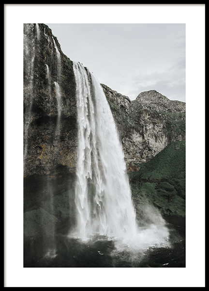 Majestic Waterfall Poster