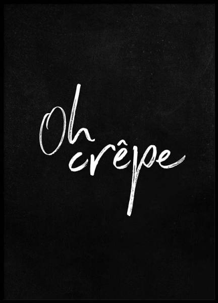 Oh Crêpe Poster in the group Prints / Kitchen at Desenio AB (2487)