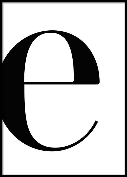 Letter E Poster in the group Prints / Text posters at Desenio AB (2618)