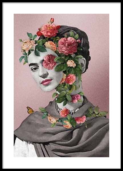 Frida Floral 2 Poster in the group Prints / Art prints at Desenio AB (3457)