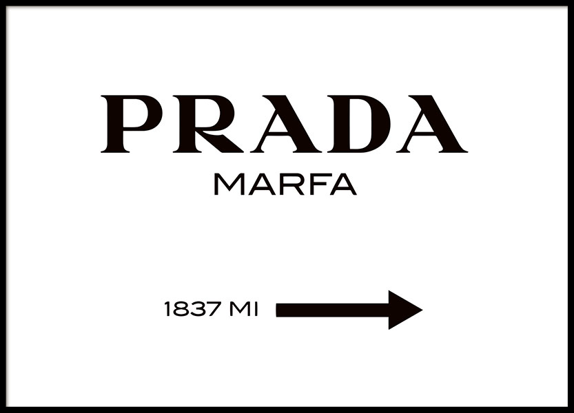 Gossip girl Prada Marfa print online. Buy prints with fashion.