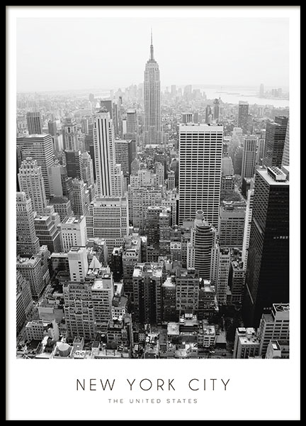 Poster New York City, prints with photos of cities