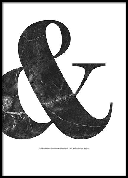 & Black Marble, Poster in the group Prints / Graphical at Desenio AB (8330)