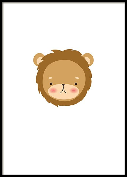 Little Lion, Poster in the group Prints / Kids posters at Desenio AB (8476)