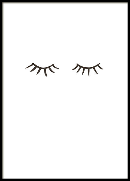 Eyelashes, Posters in the group Prints / Black & white at Desenio AB (8576)