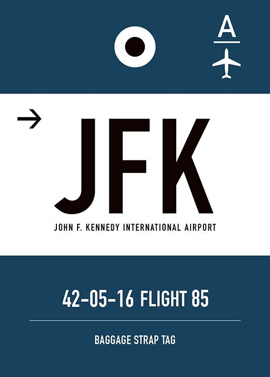 JFK New York Poster / Maps & cities at Desenio AB (10006)