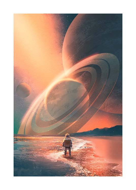 Planets In Sky Poster / Kids posters at Desenio AB (10119)