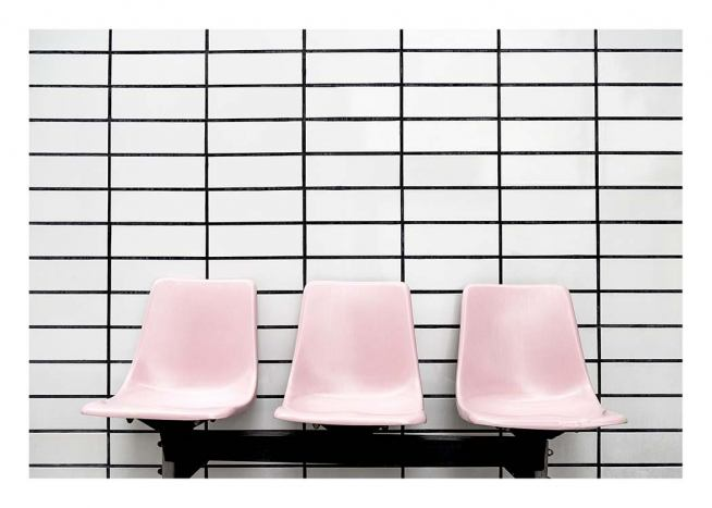 Three Pink Chairs Poster / Photographs at Desenio AB (10191)