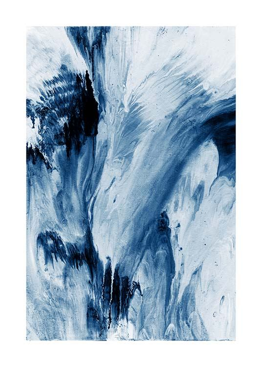 Abstract Blue Poster / Art prints at Desenio AB (10273)