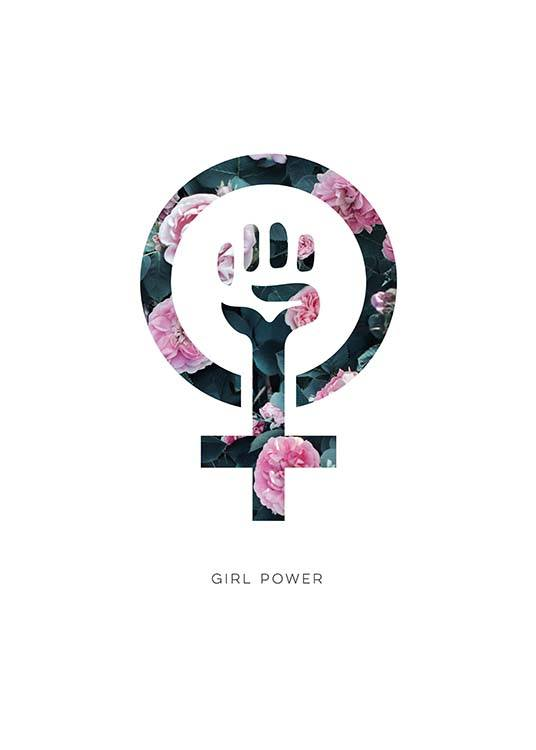 Girl Power Flower Poster / Kids posters at Desenio AB (10514)