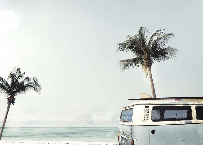 Surfers Van Blue Poster / Tropical at Desenio AB (10673)
