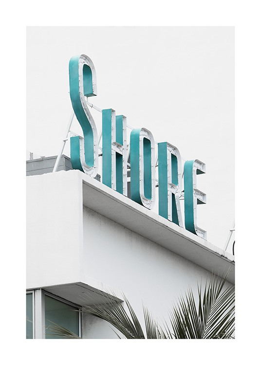 Shore Sign Poster / 50x70 cm | 19 ¾ x 27 ½ in at Desenio AB (10765)