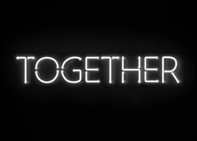 Together Neon Poster / Text posters at Desenio AB (11059)