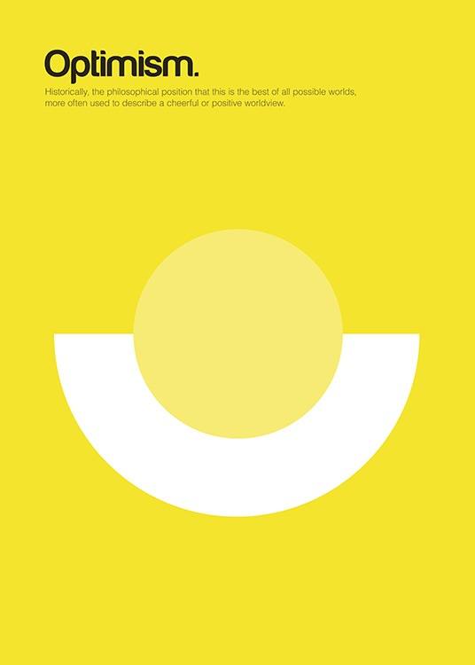 Optimism Poster / Graphical at Desenio AB (11090)