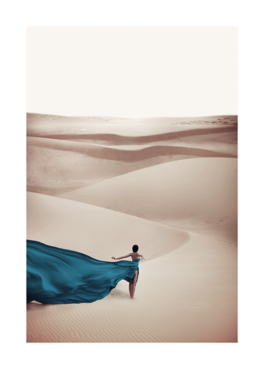 Woman in Blue Dress Poster / Nature at Desenio AB (11144)