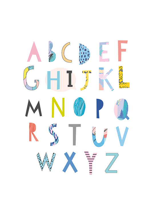 Papercut Alphabet Poster / Kids posters at Desenio AB (11379)