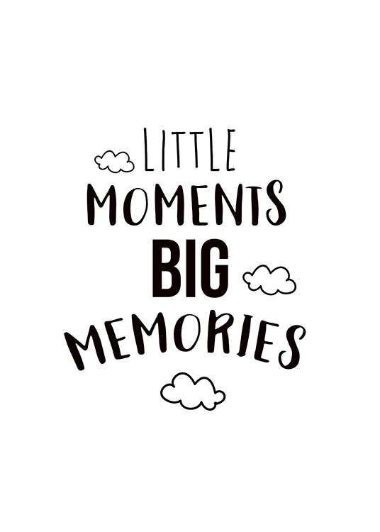 Little Moments Poster / Kids posters at Desenio AB (11442)