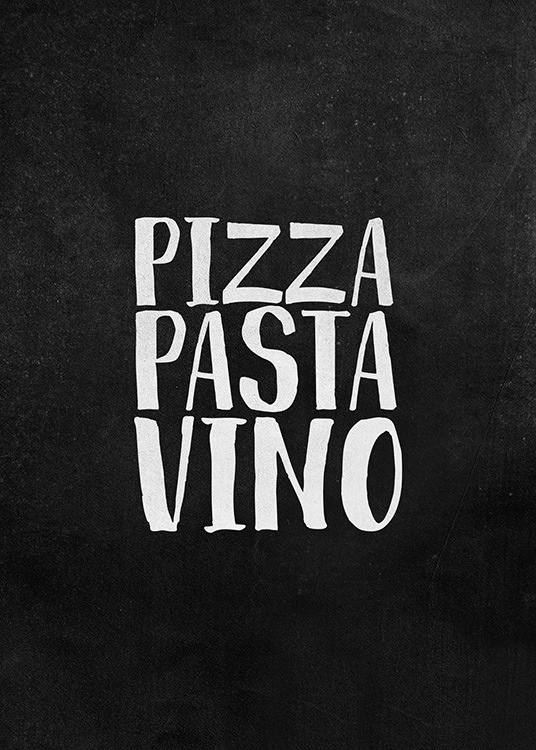 Pizza Pasta Vino Poster / Text posters at Desenio AB (12247)