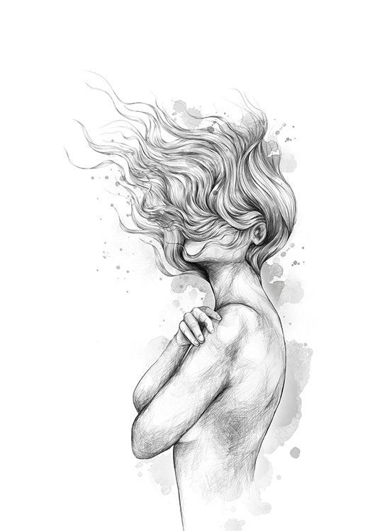 Girl In The Wind Poster / Art prints at Desenio AB (12492)