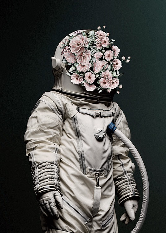 Flower Astronaut Poster / Photographs at Desenio AB (12495)
