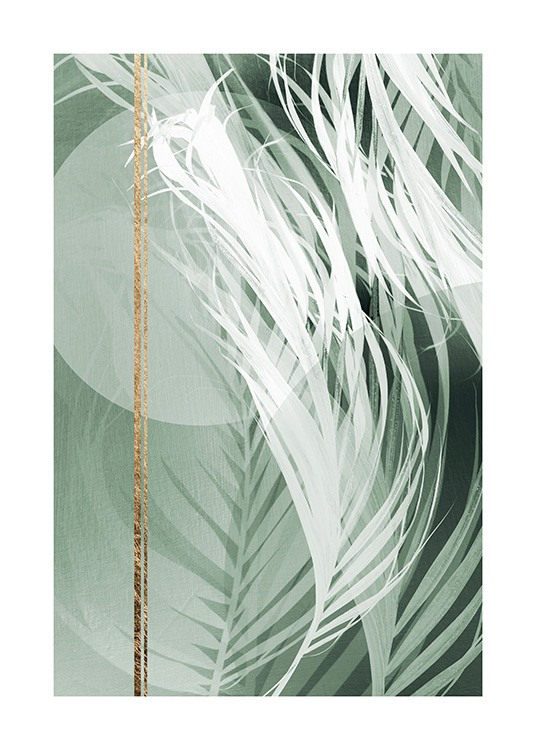 Graphic Palm Leaf No2 Poster / Photographs at Desenio AB (12588)