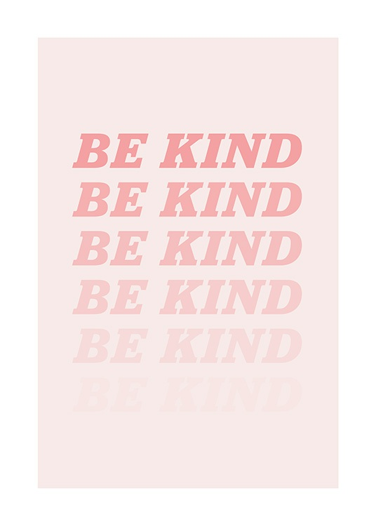 Be Kind Pink Poster / Text posters at Desenio AB (12679)